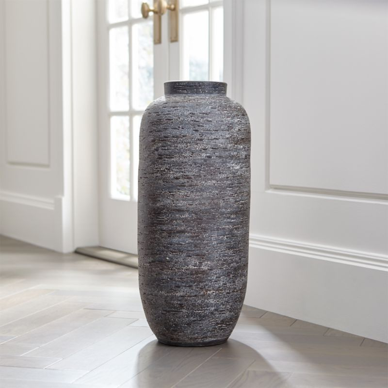 Timber Grey Floor Vase Reviews Crate And Barrel