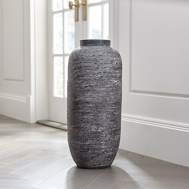 Timber Grey Floor Vase Crate And Barrel