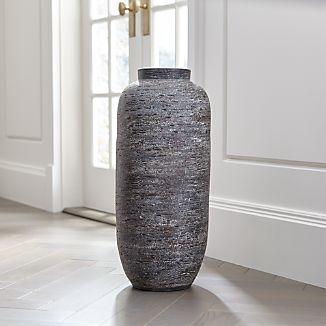 timber grey floor vase - Wooden Floor Vase