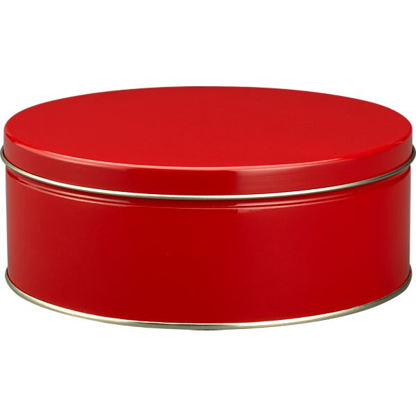 Large Red Tin