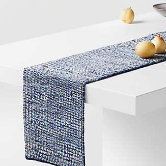 "Tinge 90"" Blue Table Runner"