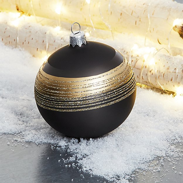 Tinsel Slate Ball Ornament