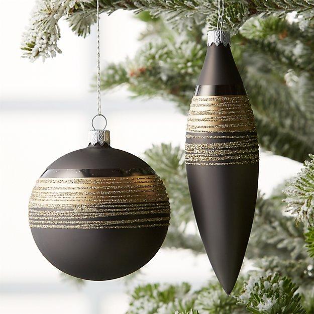 Tinsel Slate Ornaments Crate And Barrel - Decor-uas