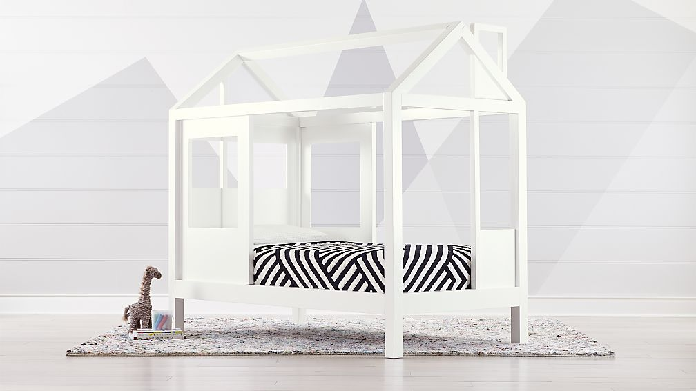 Tiny House White Twin Bed Reviews Crate And Barrel