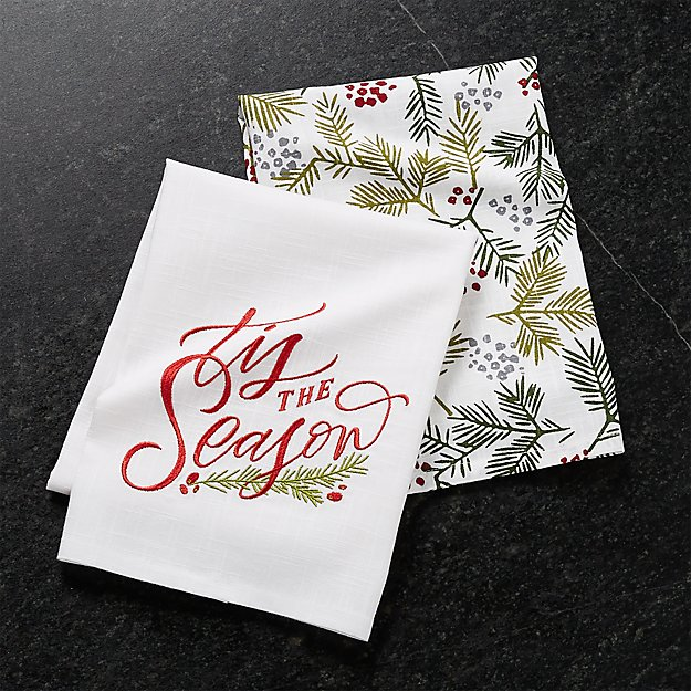Tis The Season Dish Towels, Set of 2