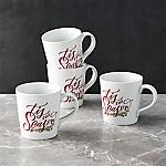 Tis The Season Mugs, Set of 4