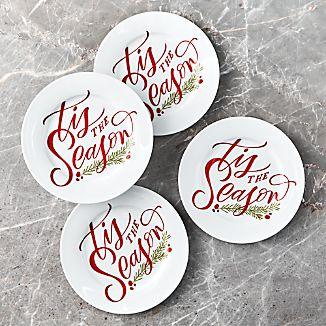 Tis The Season Plates, Set of 4