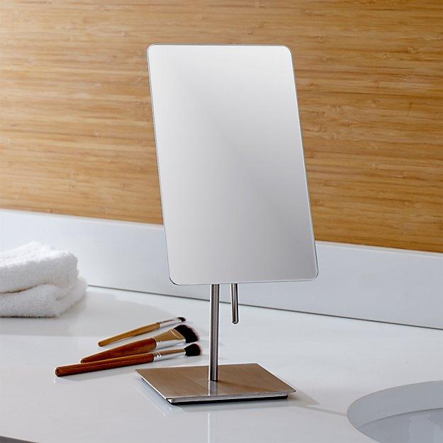 Titus brushed nickel vanity mirror reviews crate and - Crate and barrel bathroom vanities ...