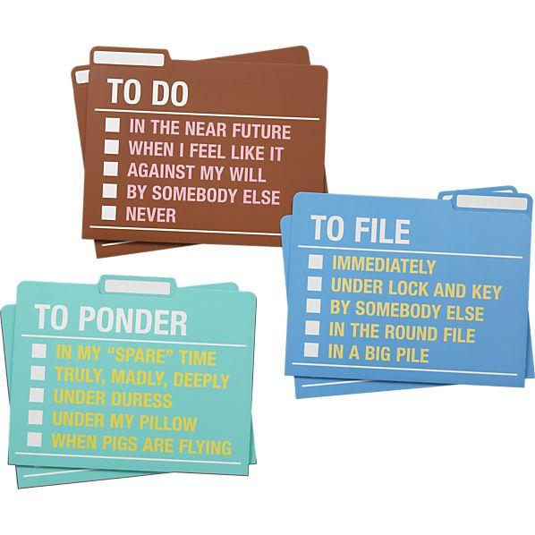 Set of 6 To Do File Folders