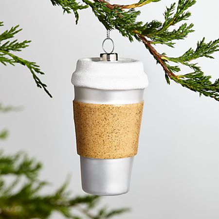 Coffee Christmas Ornament.To Go Coffee Cup Ornament