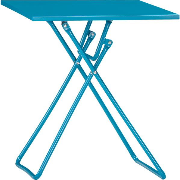 To-Go Turquoise Folding Side Table