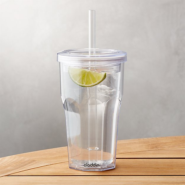 Cb2 Free Shipping >> To-Go Tumbler Acrylic 16 oz + Reviews   Crate and Barrel