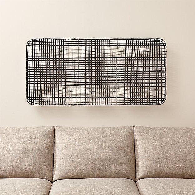 Tobacco Basket Metal Wall Art Crate And Barrel
