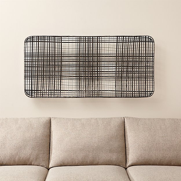 Vertical Metal Wall Art tobacco basket metal wall art | crate and barrel