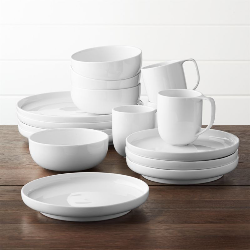 Toben 16 Piece Dinnerware Set Reviews Crate And Barrel