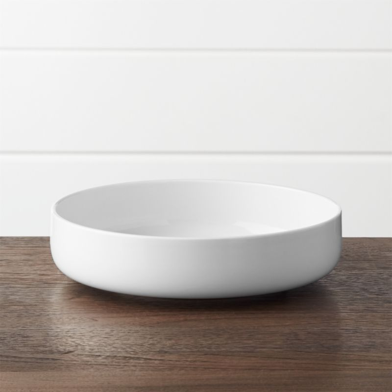 Toben Low Bowl & Toben Dinner Plate + Reviews | Crate and Barrel