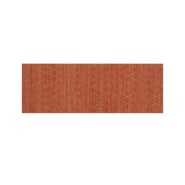 Tochi Coral Orange 2.5'x7' Rug Runner