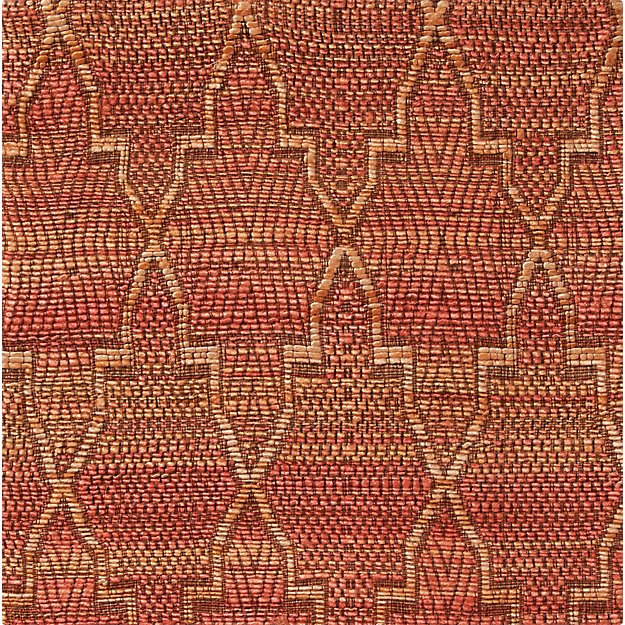 "Tochi Coral Orange 12"" sq. Rug Swatch"