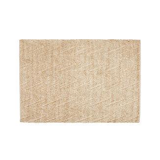 Toler Parchment Chevron Jute Rug 5'x8'