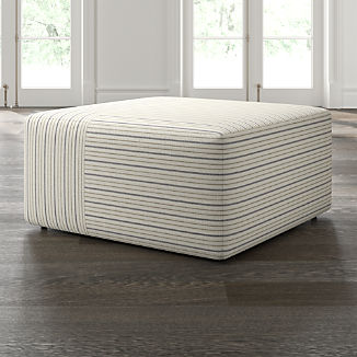Tommi Square Striped Ottoman
