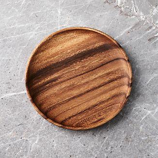 Tondo 9  Plate & Wood Dinnerware | Crate and Barrel