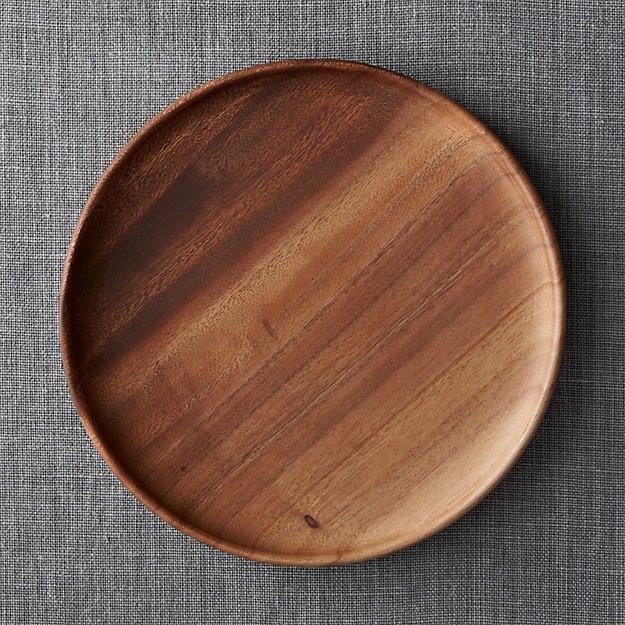 Tondo 12 Quot Round Wood Platter Crate And Barrel