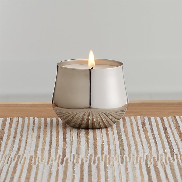 Tonka Noir Silver Demi Candle - Image 1 of 4