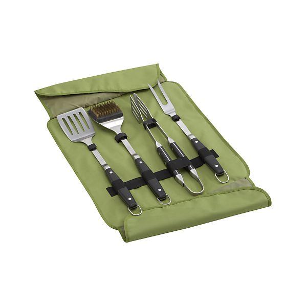 Portable 4-Piece Tool Set in Green Case