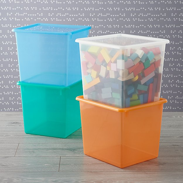 Kids Storage Containers Kids Colorful See Through Stackable Box
