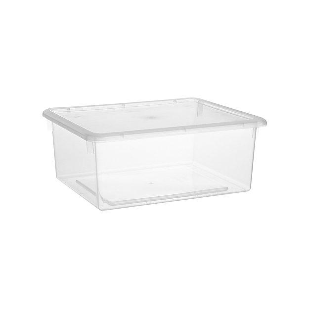 Medium Clear Plastic Storage Box Reviews Crate And Barrel