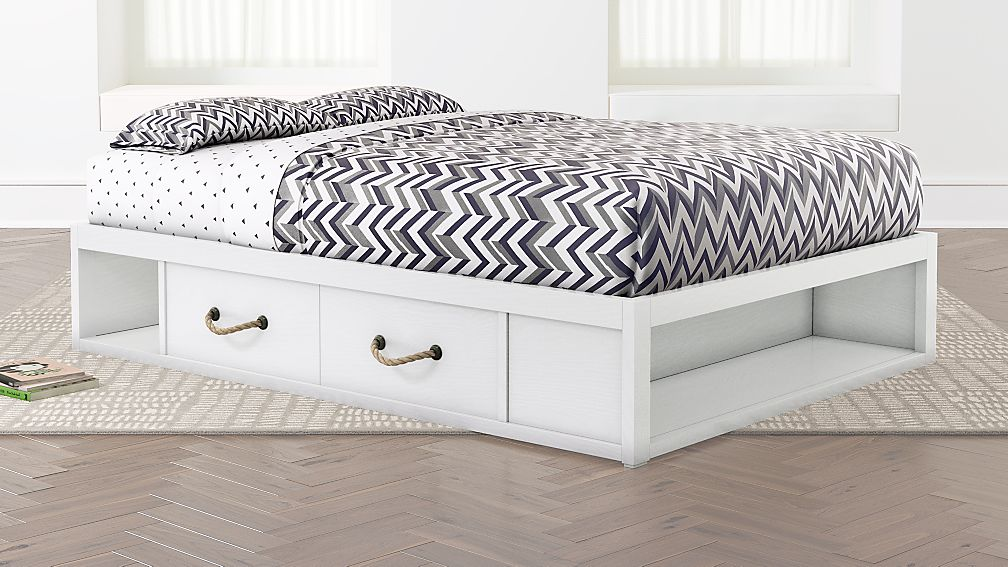 Topside Storage Kids Bed (White) | Crate and Barrel