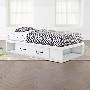 Topside White Storage Bed