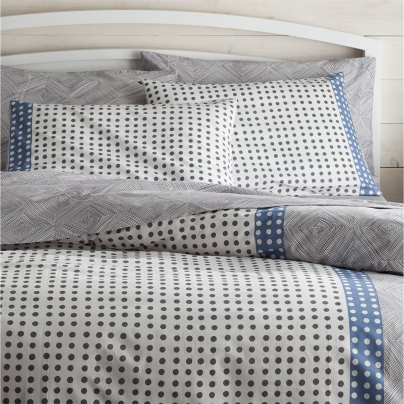 Crate And Barrel Decorative Pillow Covers : Torben Blue Duvet Covers and Pillow Shams Crate and Barrel