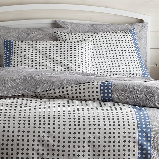 Torben Blue Full/Queen Duvet Cover