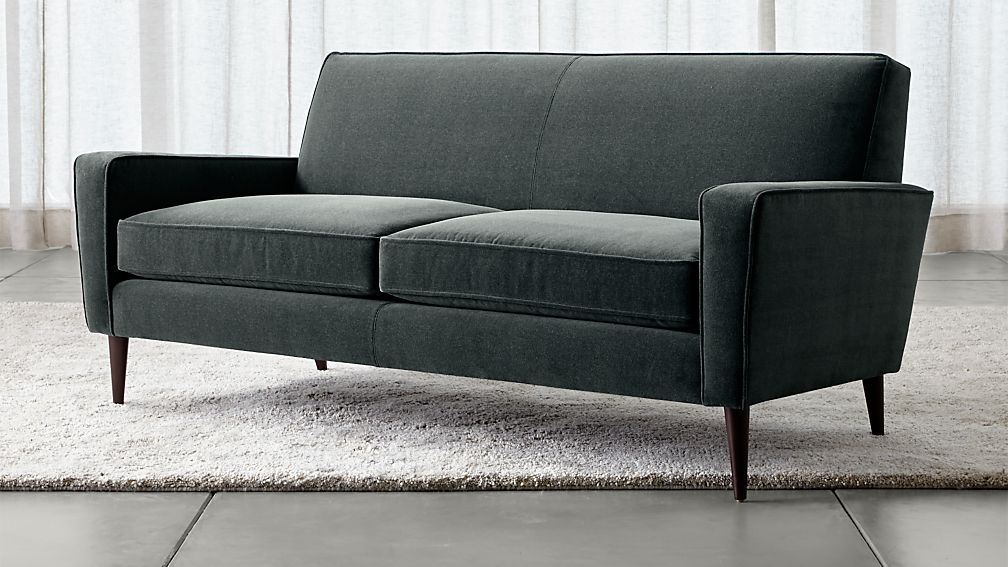Torino Sofa Torino Blue Velvet Modern Apartment Sofa
