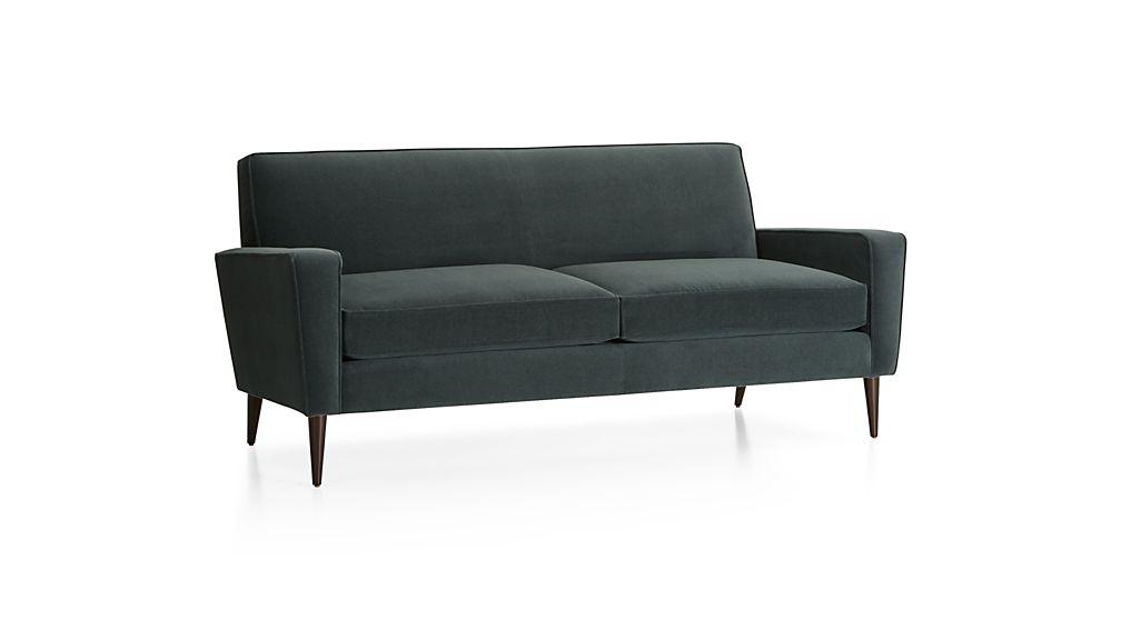 Torino Velvet 2-Seat Apartment Sofa