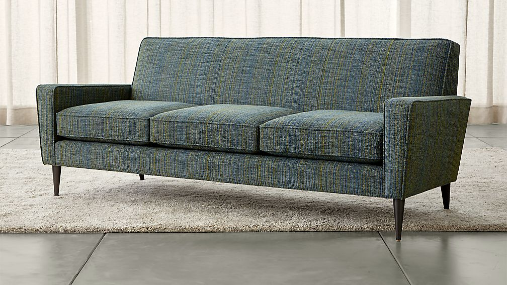 Torino Teal Sofa + Reviews | Crate and Barrel