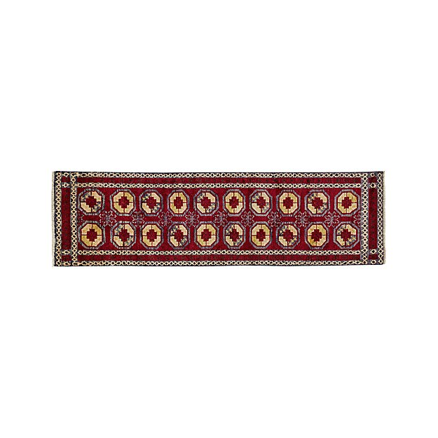 Torra Red Persian-Style Rug 2.5'x9' - Image 1 of 3