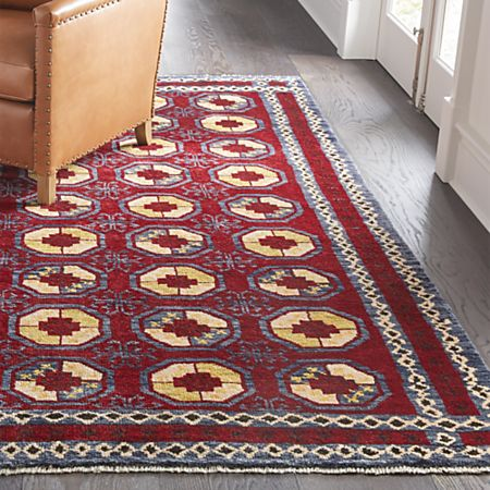 Torra Red Persian Style Rug Crate And