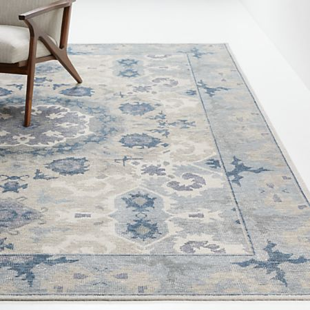 Torrance Neutral Blue Rugs Crate And