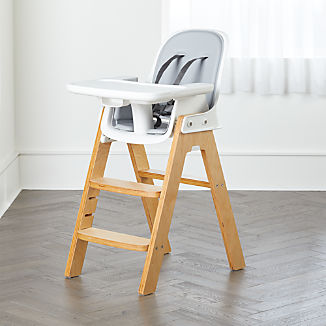 OXO TOT Sprout Adjustable High Chair Grey and Birch