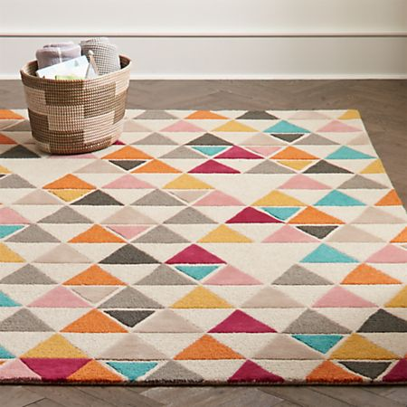 Totally Triangular Kids Rug Crate And