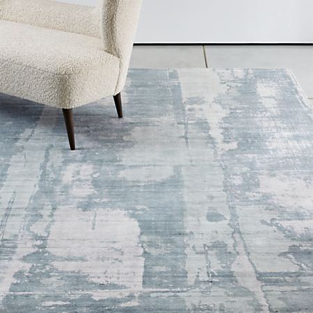 Tottori Blue Abstract Rug Crate And