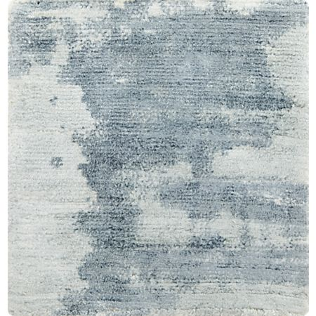 Tottori Blue Abstract Rug Swatch