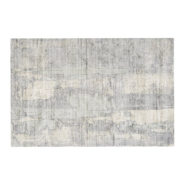 Tottori Grey Abstract Rug 6 X9 Reviews Crate And Barrel