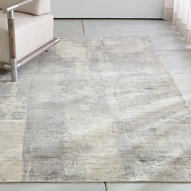 Tottori Grey Abstract Rug Crate And Barrel