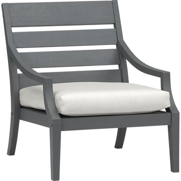 Toulon Lounge Chair with Sunbrella ® White Sand Cushion