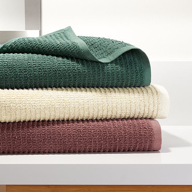 Travia Textured Bath Towels - Image 1 of 7