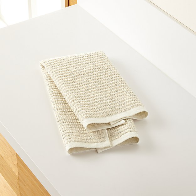 Travia Natural Textured Hand Towel - Image 1 of 9