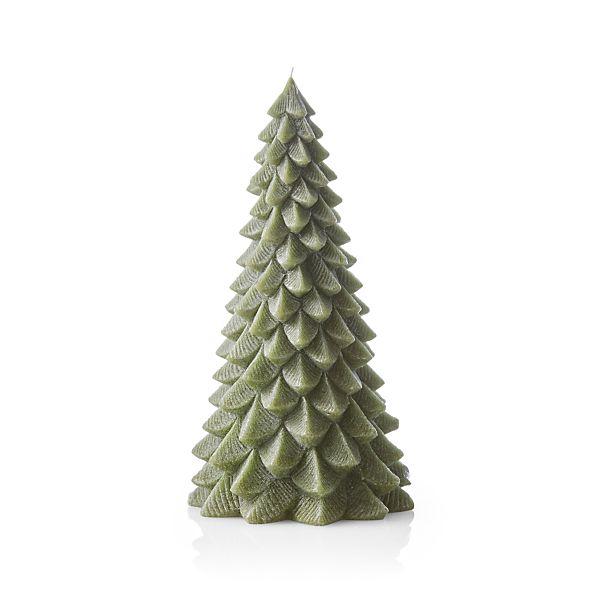 TreeCandle13inGreenF17